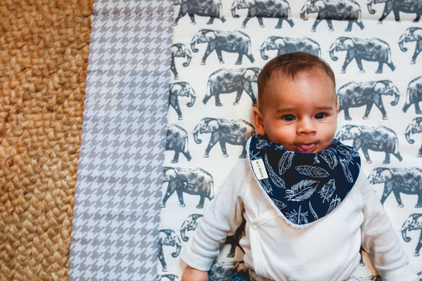 Bandana Bib - Feather - Audrey & Me  - 2