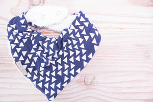 Bandana Bib - Blue Triangle