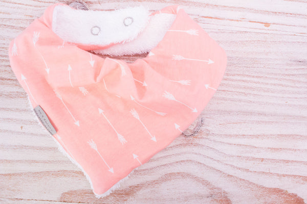 Bandana Bib - Peach Arrow