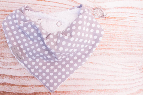 Bandana Bib - Grey Dot