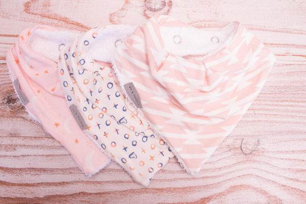 Bandana Bib Pack - Blush