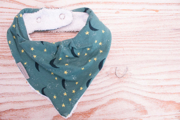 Bandana Bib - Moon and Stars Night