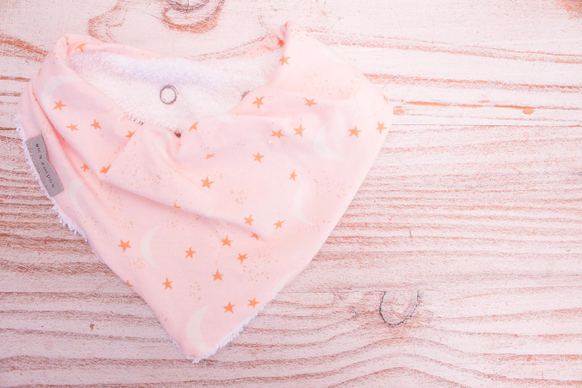 Bandana Bib - Moon and Stars Blush
