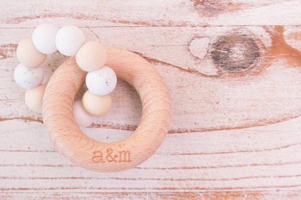 Teething Ring - Neutral Beads