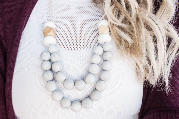 Mumma Necklace - Manhattan Marble