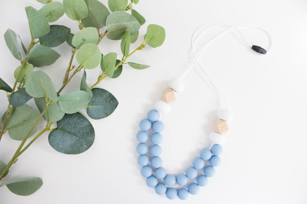 Mumma Necklace - Manhattan Blue