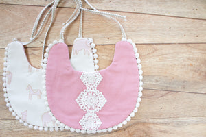 Boho Bib - Dusty Pink Lace