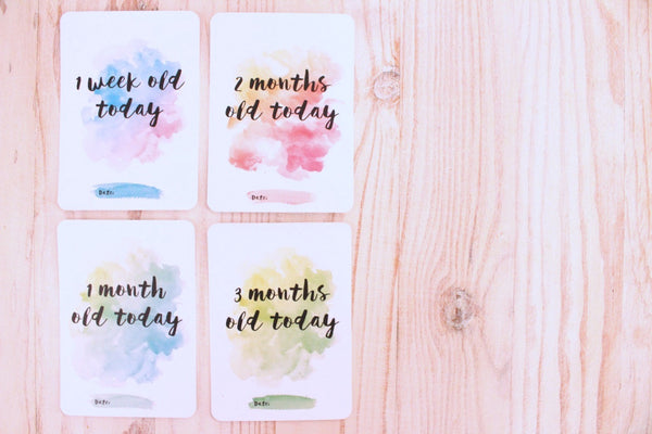 Milestone Cards - Watercolour Baby - Audrey & Me  - 8