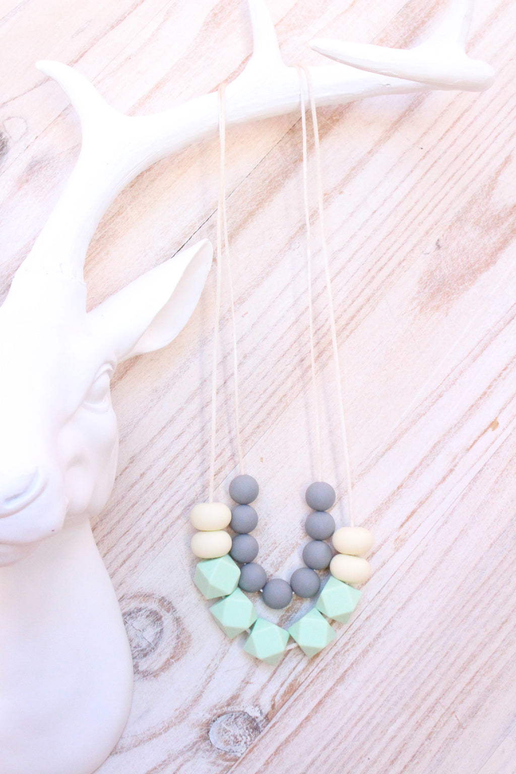 Mumma Necklace - Santorini Mint - Audrey & Me  - 1
