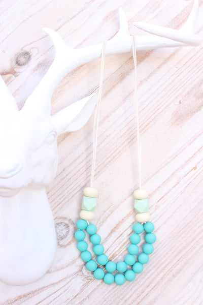 Mumma Necklace - Manhattan Turquoise - Audrey & Me  - 1
