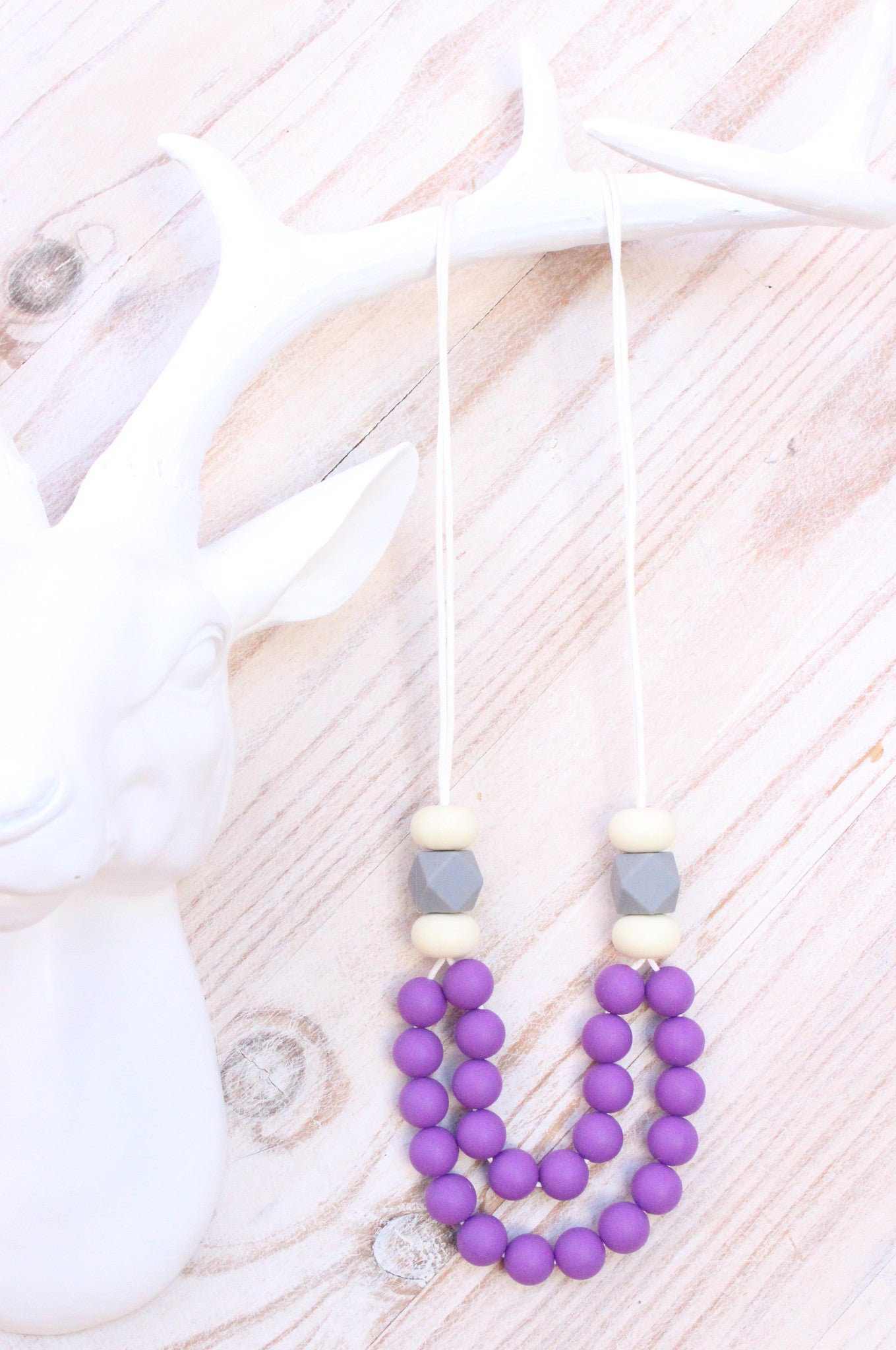 Mumma Necklace - Manhattan Purple - Audrey & Me  - 1