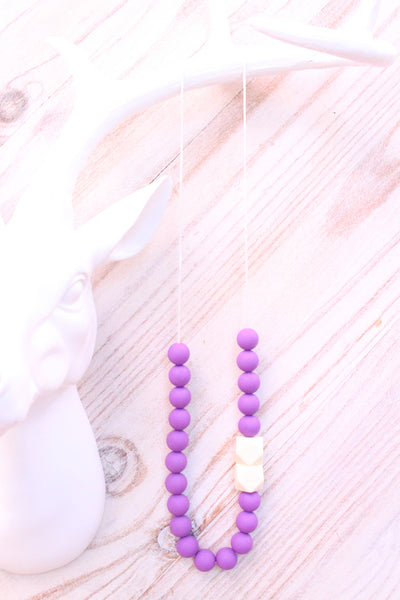 Mumma Necklace - Aspen Purple - Audrey & Me  - 1