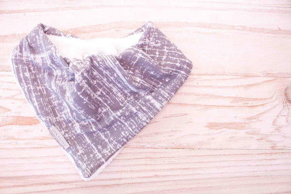 Bandana Bib - Brush Grid Grey - Audrey & Me  - 1