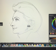 Hillary Clinton drawing - Kareen
