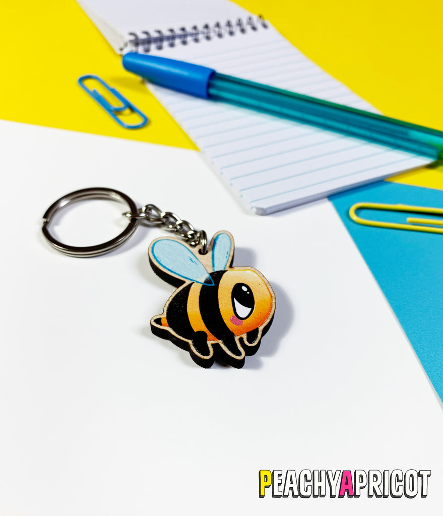 Kawaii Bee keychain