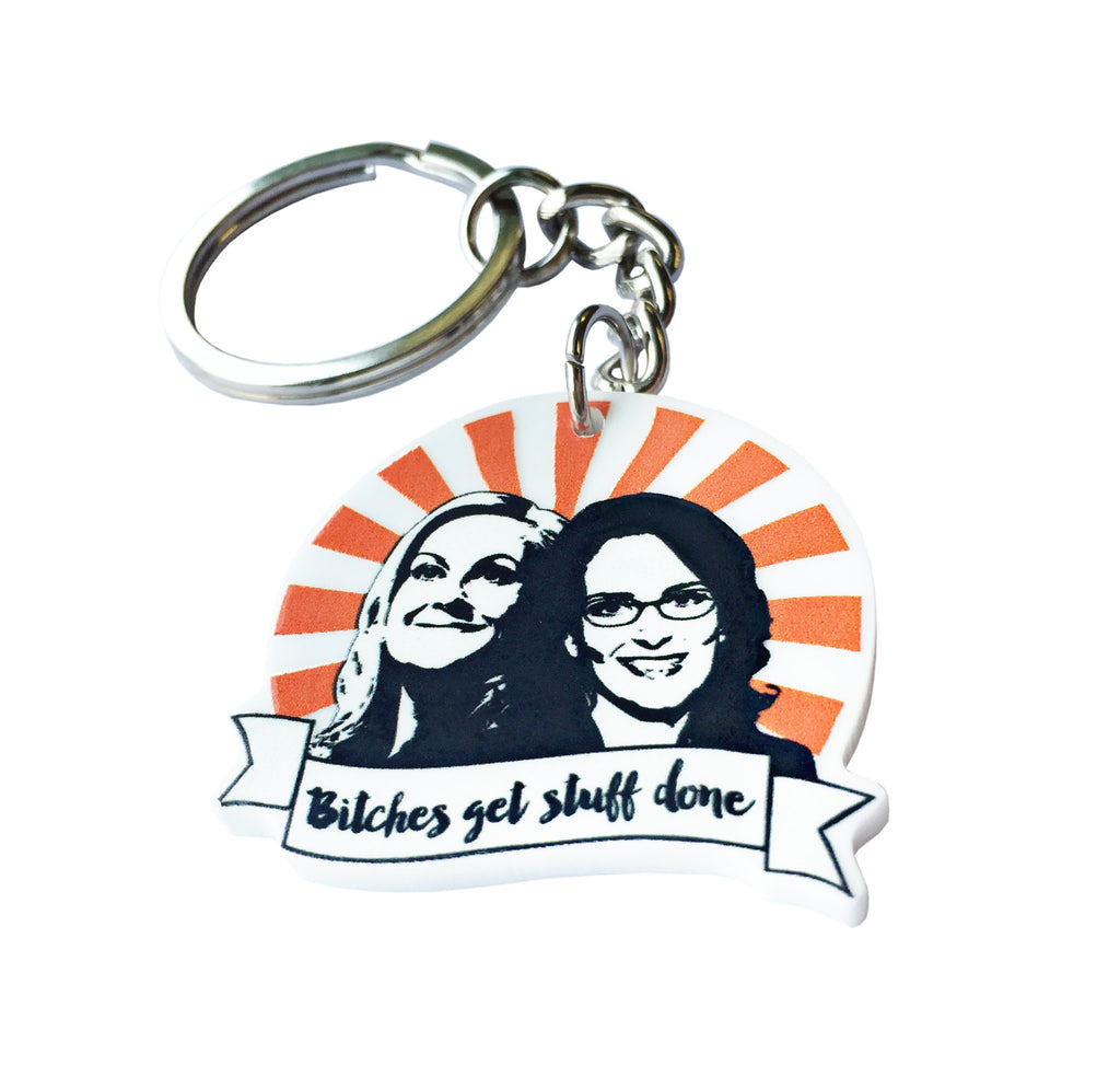Bitches Get Stuff Done Keychain - PeachyApricot