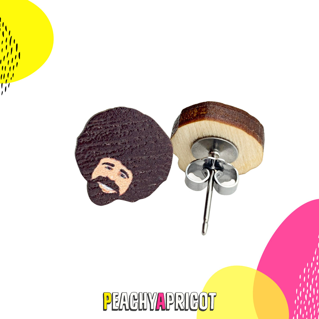 Bob Ross Earrings