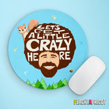 Bob Ross and Squirrel Mouse Pad