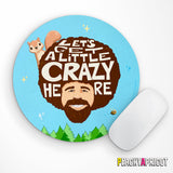 Bob Ross Peapod the Squirrel Mouse Pad