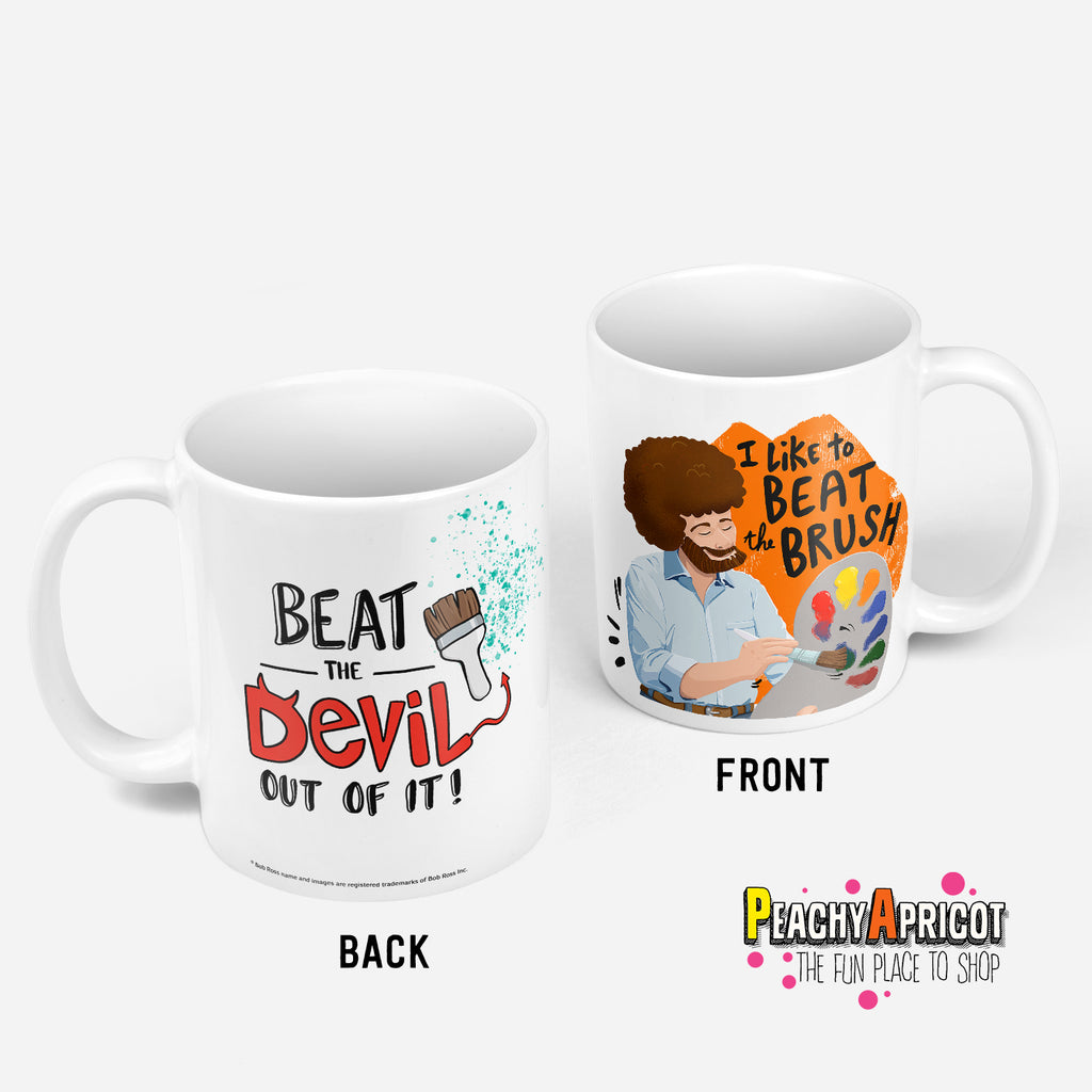 Bob Ross Beat The Devil Mug