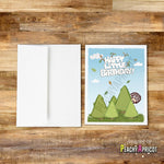 Bob Ross Happy Little Birthday Card