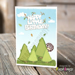 Bob Ross Happy Little Trees Card