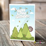 Bob Ross Happy Little Birthday Card - Happy Little Trees Card