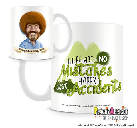 Bob Ross Mug Happy Accidents
