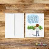 Bob Ross Happy Little Birthday Card - PeachyApricot