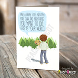 Happy Trees Birthday Card