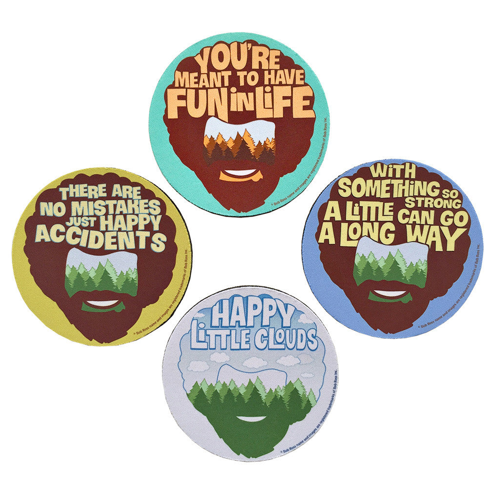 Bob Ross - Happy Little Coasters - PeachyApricot