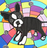Boston Terrier Painting - PeachyApricot