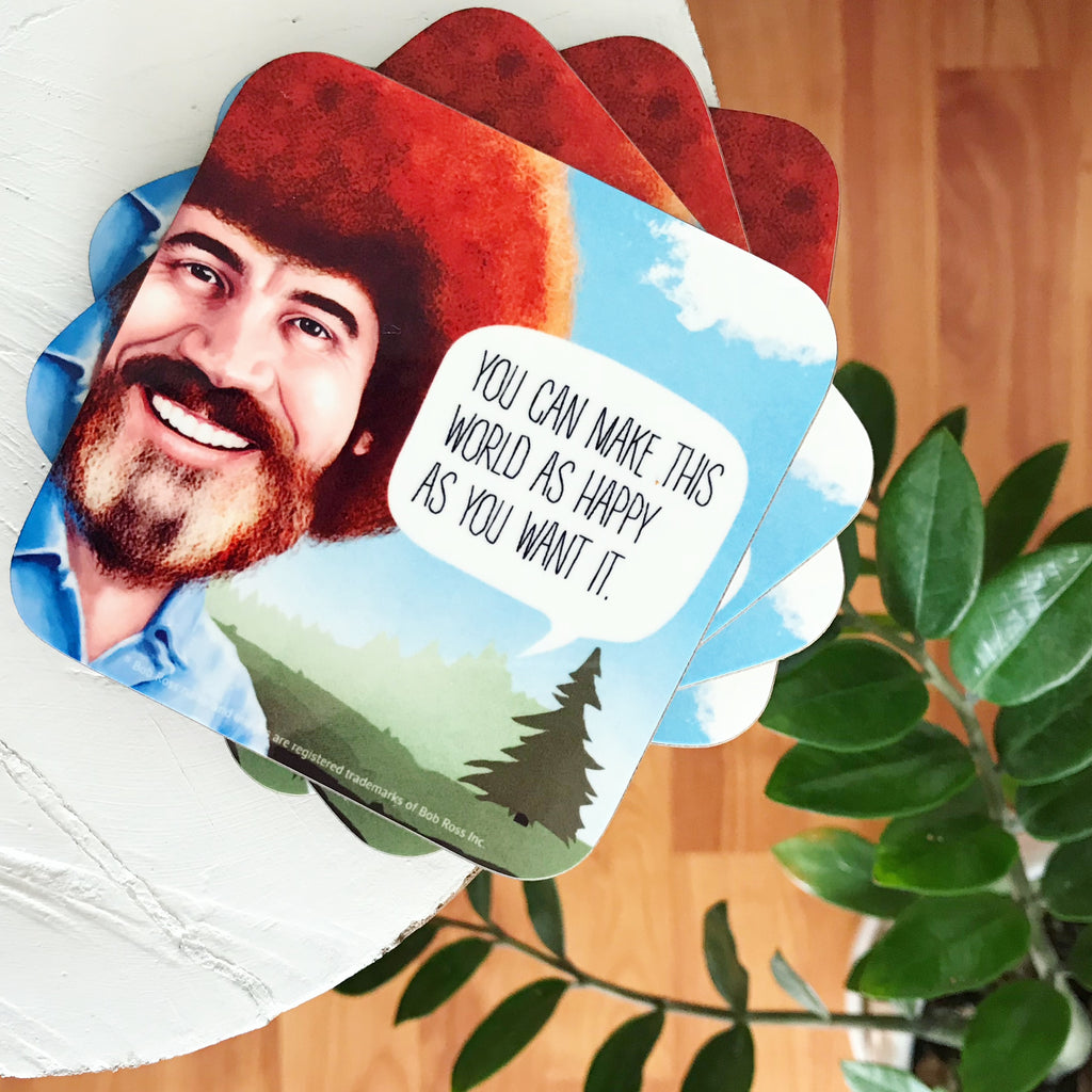 Bob Ross Quotes Coasters