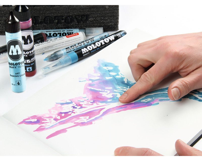 Molotow GRAFX Art Masking Liquid Pen 2mm and 4mm – PeachyApricot