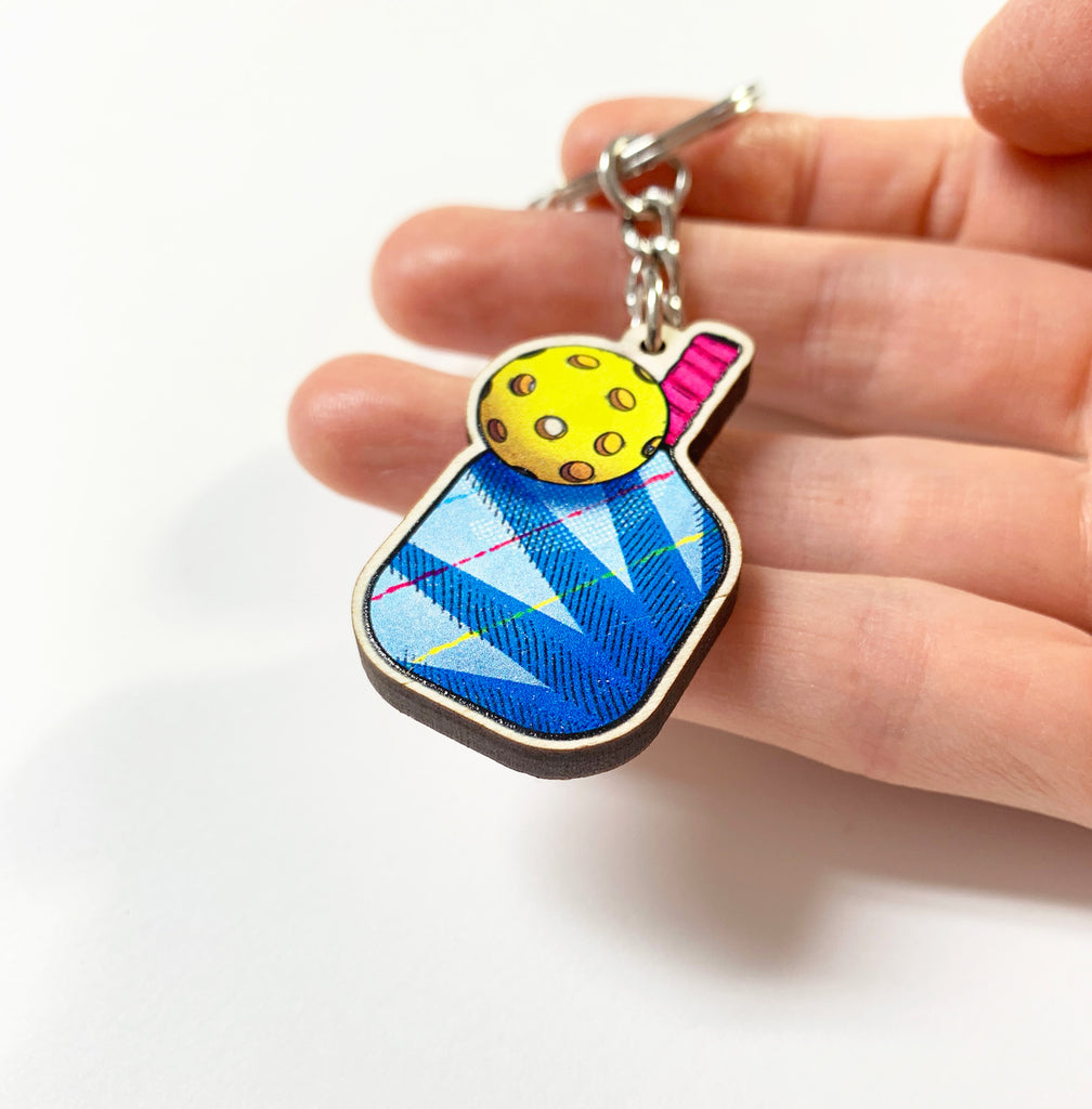 Pickleball Keychain