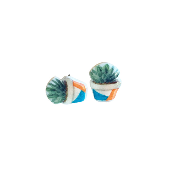 Succulent Plant Earrings