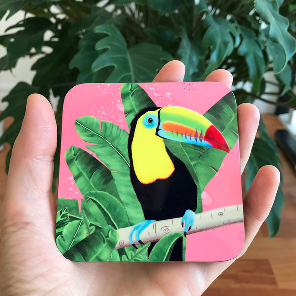 Tropical Toucan coasters