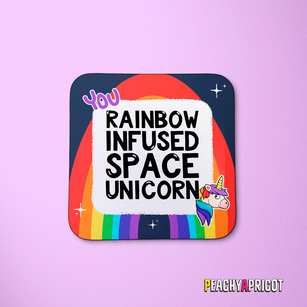 Rainbow Unicorn Coaster