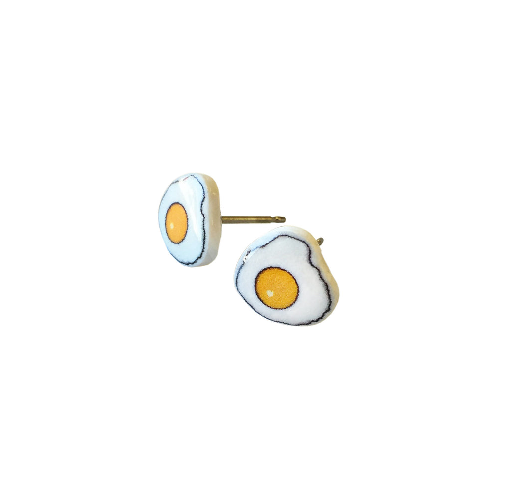 Bacon and Egg Earrings - PeachyApricot