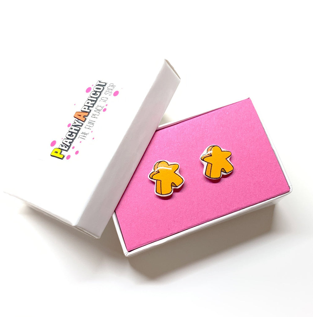 Meeple Stud Earrings - PeachyApricot