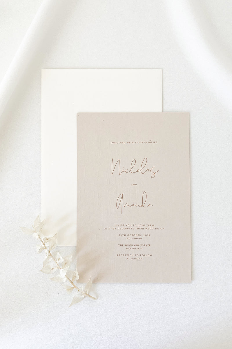 Amanda Invitation Suite