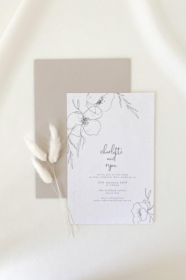 Charlotte Floral Invitation Suite