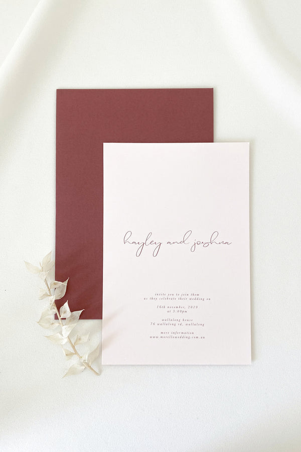 Hayley Invitation Suite