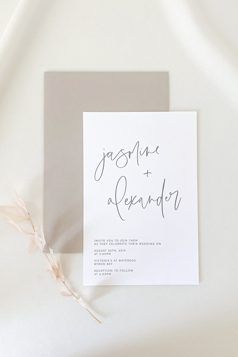 Jasmine Invitation Suite