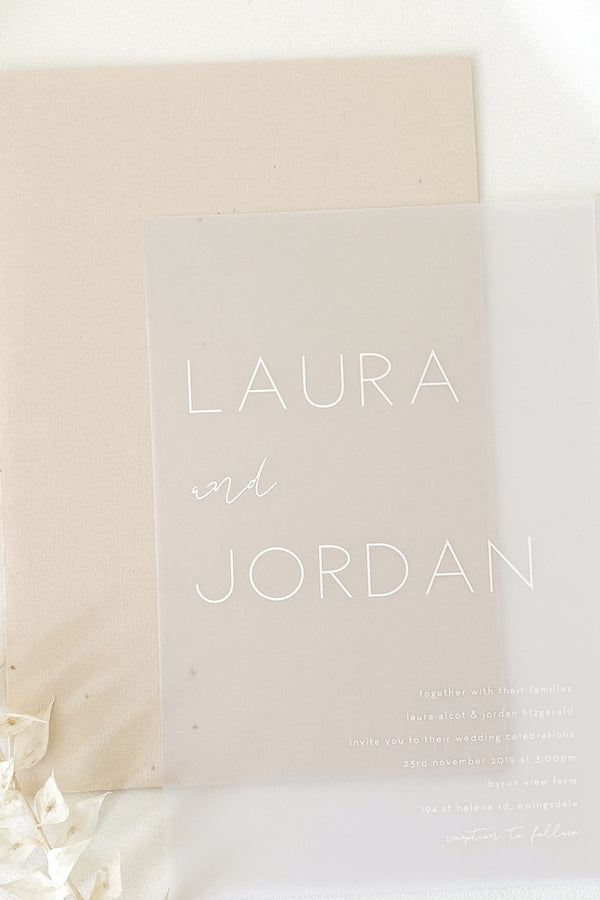 Laura Invitation Suite