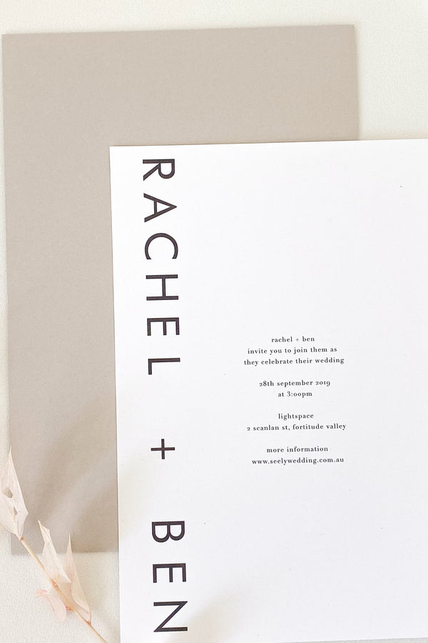 Rachel Modern Invitation Suite