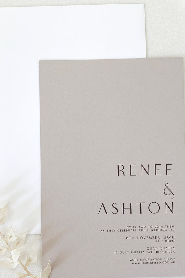 Renee Invitation Suite
