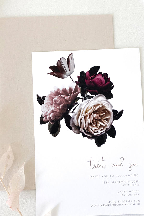 Sia Floral Invitation Suite
