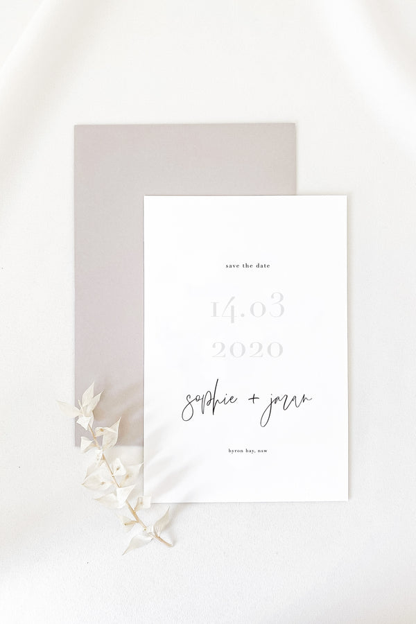 Sophie Save The Date Card