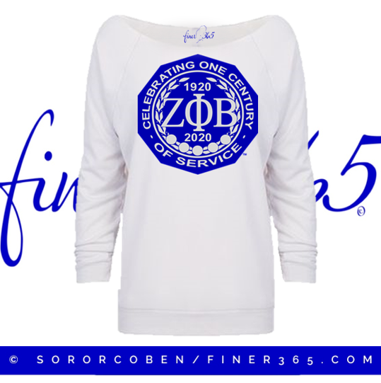 Zeta Centennial White 3/4 Sleeve Off Shoulder Lightweight Shirt